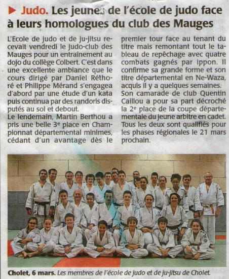 Article du courrier de l'Ouest ( 2015)